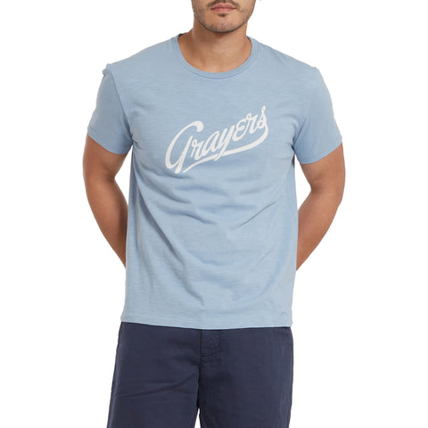 Grayers Print Tee - Ashley Blue