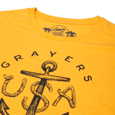 Anchor Print Tee - Chamois-Grayers