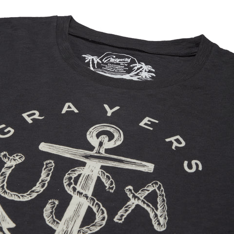 Anchor Print Tee - Forged Iron-Grayers
