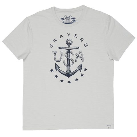 Anchor Print Tee - Gray Violet-Grayers