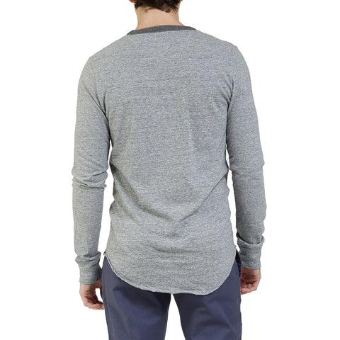 Todd Slub Henley - Gray Heather-Grayers