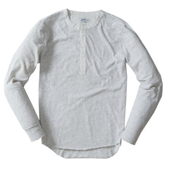 Todd Slub Henley - Light Gray Heather