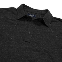 Hartford Nep Jersey Long Sleeve Polo - Charcoal Heather-Grayers
