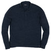 Hartford Nep Jersey LS Polo - Dark Denim-Grayers