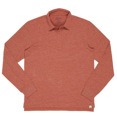Harford Nep Jersey LS Polo SMP - Burnt Orange Heather