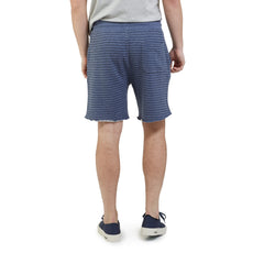 Dalton Terry Draw Cord Short - Grisaille Blue/Navy Stripe