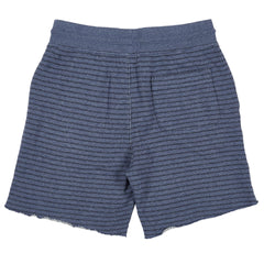 Dalton Terry Draw Cord Short - Grisaille Blue/Navy Stripe-Grayers