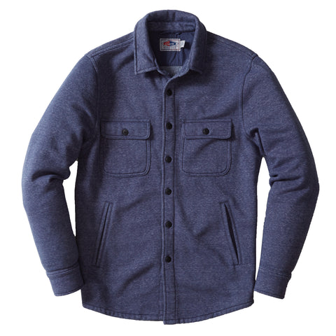 Nolan Marled CPO Shirt Jacket - Night Shadow Blue