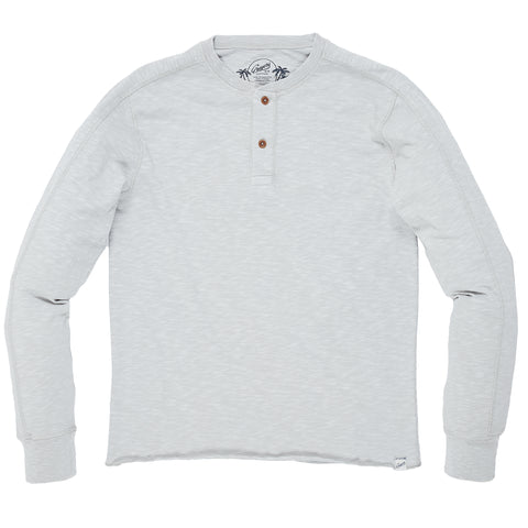 Cooper Slub Jersey Henley - High Rise Gray-Grayers