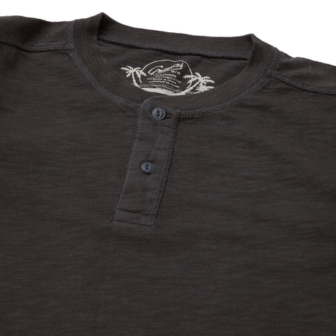 Cooper Slub Jersey Henley - Washed Black