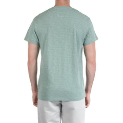 Madison Jaspe Loose Knit Pocket Tee - Blue Surf