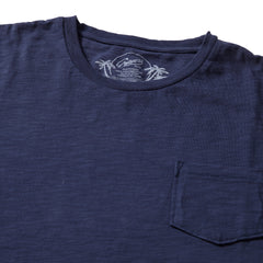 Madison Jaspe Loose Knit Pocket Tee - Blue Night-Grayers