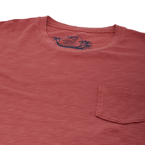 Madison Jaspe Loose Knit Pocket Tee - Dusty Cedar-Grayers