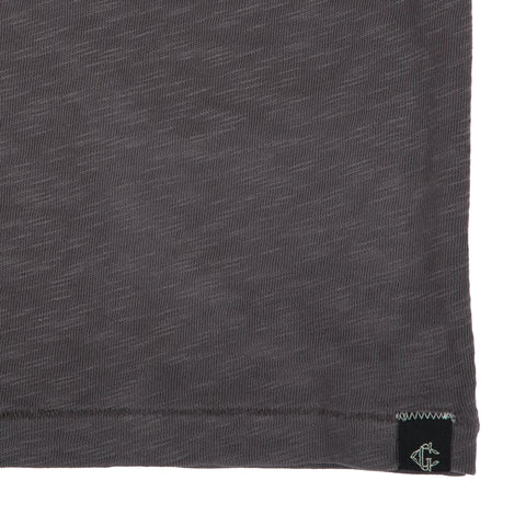 Madison Jaspe Loose Knit Pocket Tee - Forged Iron-Grayers