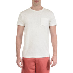 Madison Jaspe Loose Knit Pocket Tee - Optical White-Grayers