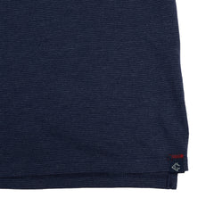 Drake Long Sleeve Micro Stripe Polo - Mood Indigo-Grayers