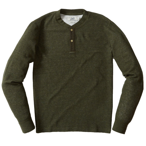 New Windsor Double Cloth Henley - Loden
