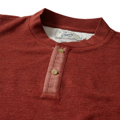New Windsor Double Cloth Henley - Rust