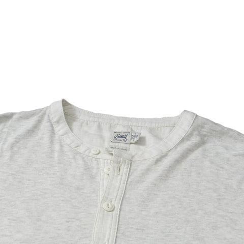 Todd Slub Henley Short Sleeve - Heather Lt Gray
