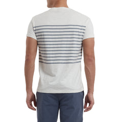 Admiral Stripe Crew - Bright White-Grayers