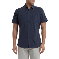 Fairfax Knit Button Front - Navy-Grayers