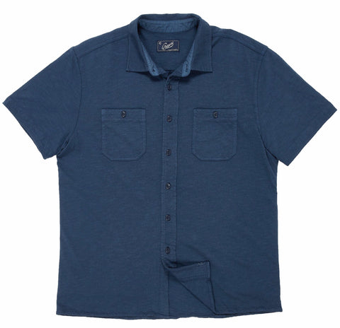 Fairfax Knit Button Front - Navy