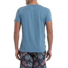 Madison Jaspe Loose Knit Tee - Niagara-Grayers