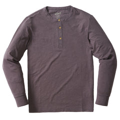 Madison Jaspe Loose Knit Henley - Forged Iron-Grayers