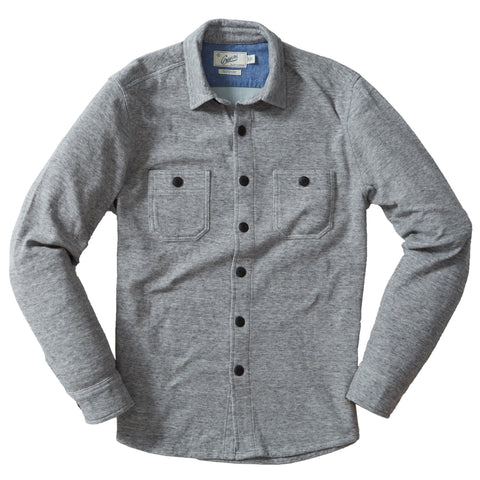 East End Double Cloth Knit Shirt - Gray Heather