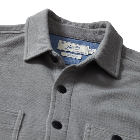 East End Double Cloth Knit Shirt - Neutral Gray