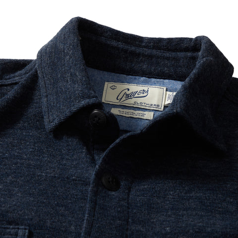 East End Double Cloth Knit Shirt - Navy Heather