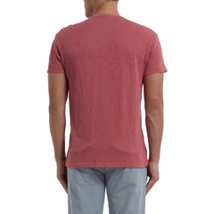 Madison Jaspe Short Sleeve Henley - Dusty Cedar-Grayers