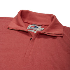 Hudson Textured Half Zip - Dusty Cedar