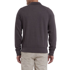 Hudson Textured Half Zip - Forged Iron-Grayers