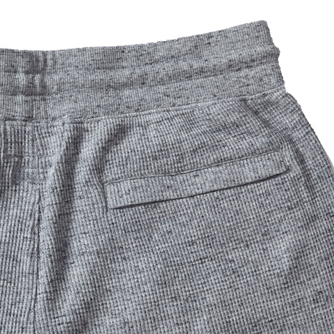 New Spencer Waffle Drawcord Shorts - Gray Marl