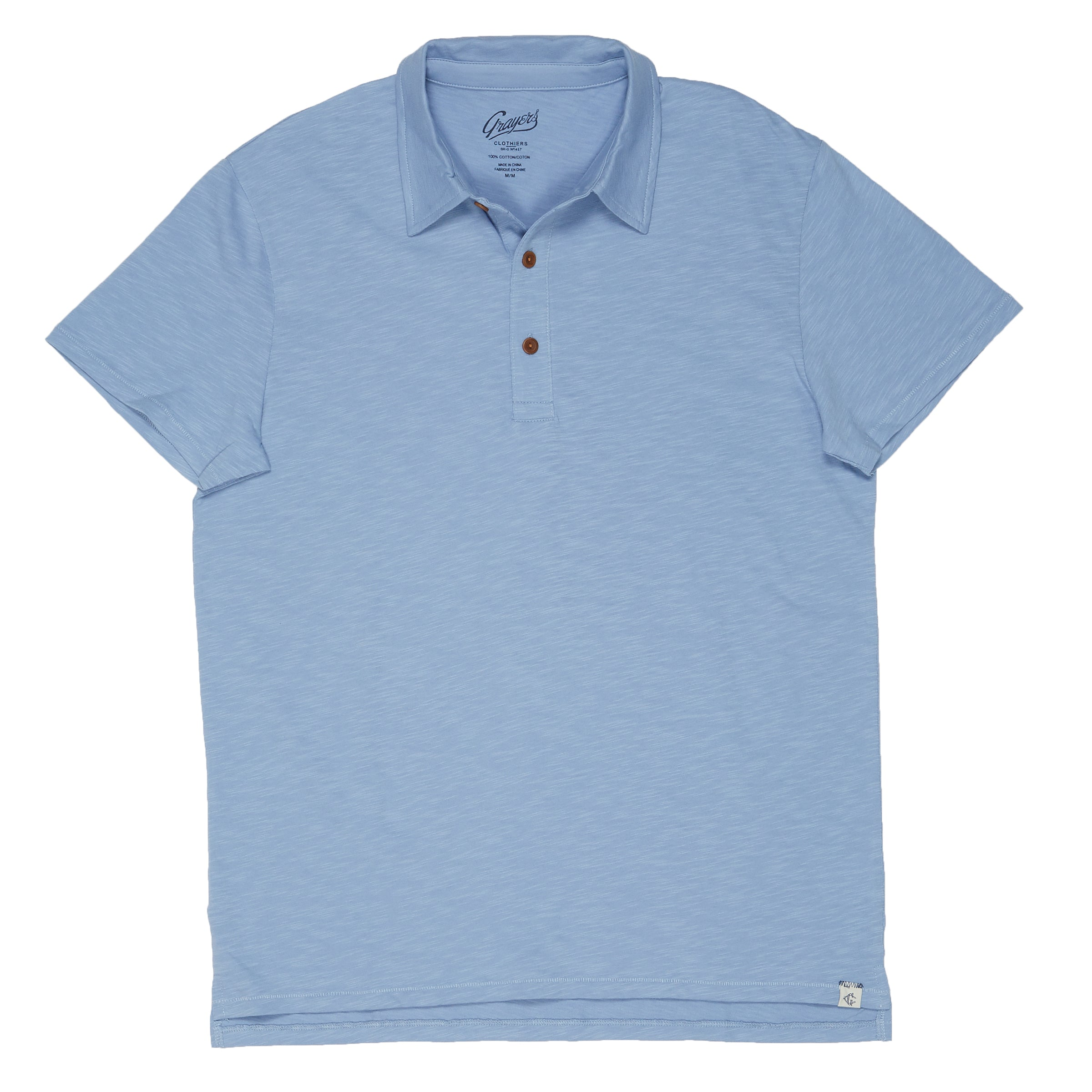 Almar Solid Jersey Polo - Forever Blue