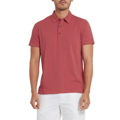 Almar Solid Jersey Polo - Cranberry