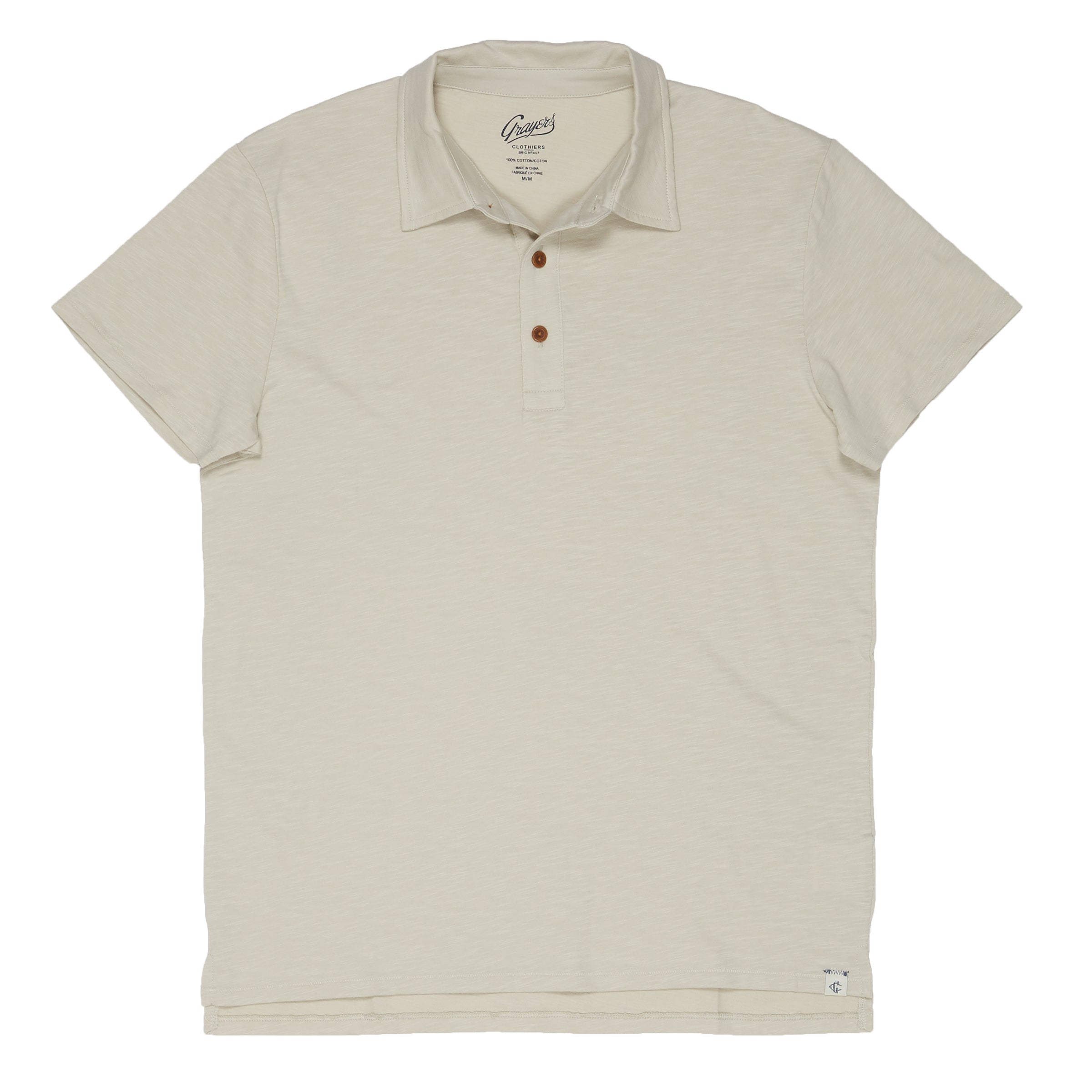 Almar Solid Jersey Polo - Faded Gray