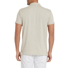 South Bay Slub Jersey Polo -Almar Faded Gray