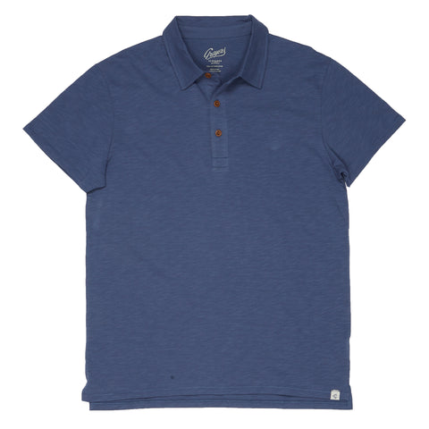 Almar Solid Jersey Polo - Navy-Grayers