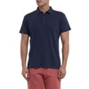 Madison Jaspe Loose Knit Polo - Blue Night-Grayers