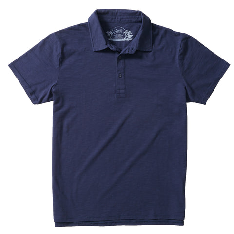 Drake Micro Stripe Lux Polo - Stormy Sea