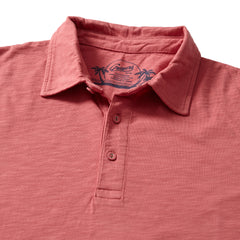 Madison Jaspe Loose Knit Polo - Dusty Cedar-Grayers