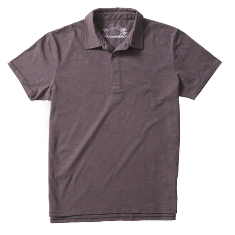 Madison Jaspe Loose Knit Polo - Forged Iron