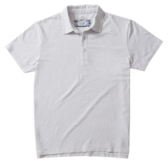 Madison Jaspe Loose Knit Polo - Micro Chip-Grayers