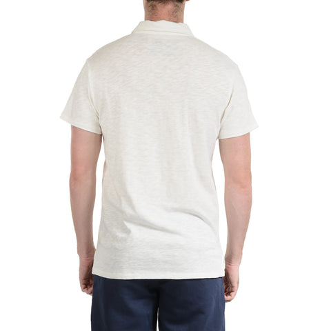 Madison Jaspe Loose Knit Polo - Optical White-Grayers