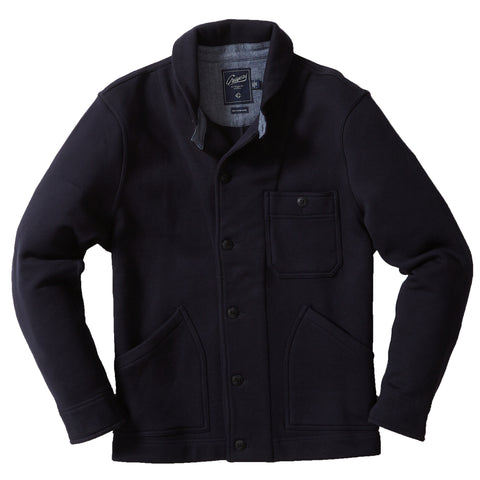 Windsor Double Cloth Henley - Navy