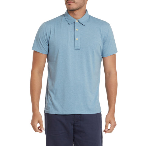 Bayshore Marl Polo - Light Blue