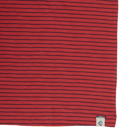 Malaga Cove Stripe Tee - Cranberry-Grayers