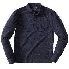 Ainsworth Pique Polo - Charcoal
